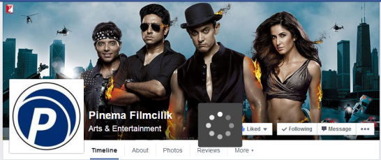 Facebook page of the Dhoom 3 distributor in Turkey updated today